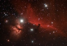 The Horsehead and Flame Nebulae in Orion - Click to Enlarge