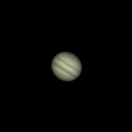 Jupiter after processing in the Registax Wavelets module