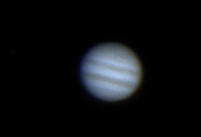 Still from capture of Jupiter