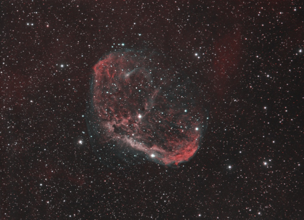 NGC 6888 - The Crescent Nebula in Cygnus - Dual Narrowband
